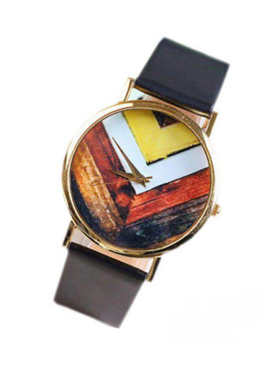 online Geometric Pattern Watch - BLACK