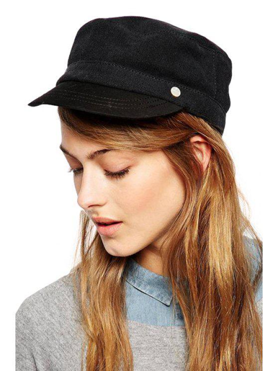 fancy Solid Color Cotton Blend Cap - AS THE PICTURE S