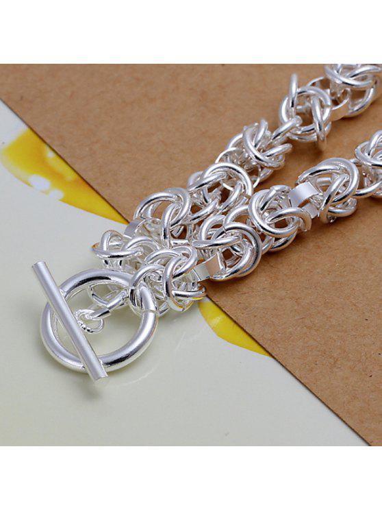 ladies Trendy Multilayered Chains Bracelet For Women - 20CM*0.6CM