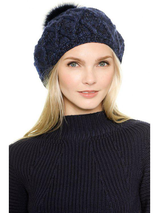 outfits Pompon  Metallic Color Thread Hat - AS THE PICTURE S