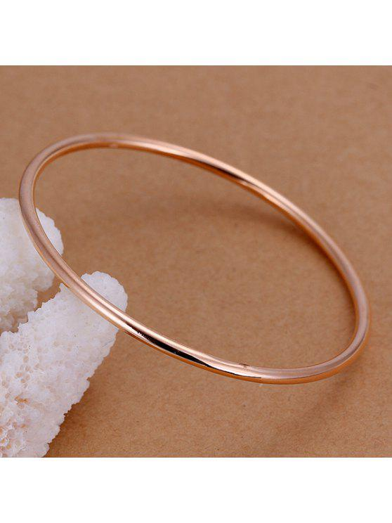 outfits Simple Style Rose Gold Narrow Width Bracelet For Men - DIAMETER 7CM WIDE 0.3CM