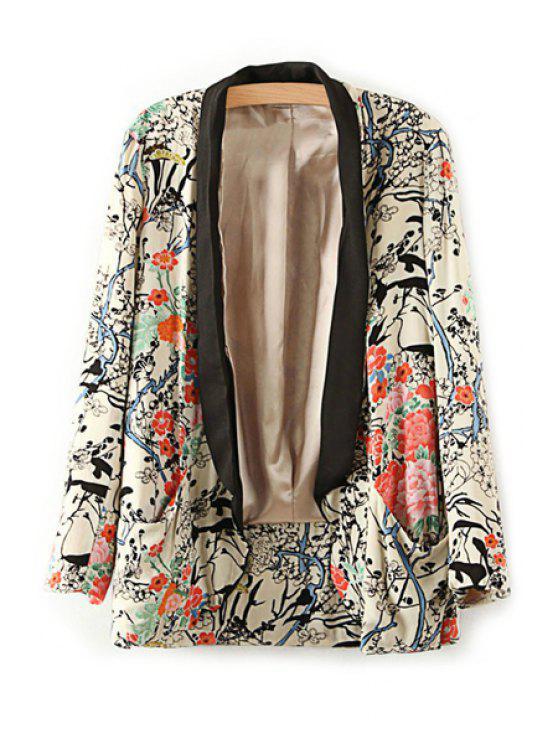 buy Floral Print Long Sleeve Blazer - COLORMIX S