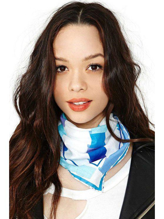 womens Geometric Print Kerchief - AS THE PICTURE