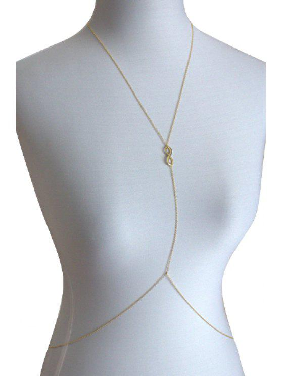 shops Eight Shape Design Body Chain - GOLDEN