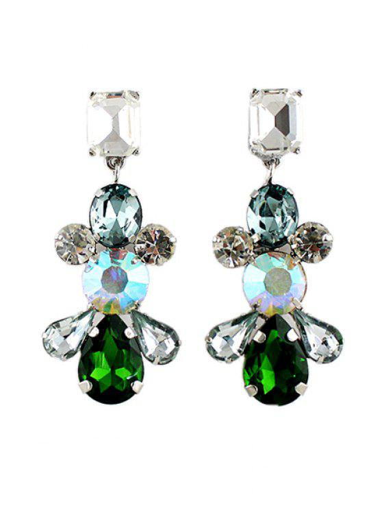 latest Pair of Crystal Earring - AS THE PICTURE
