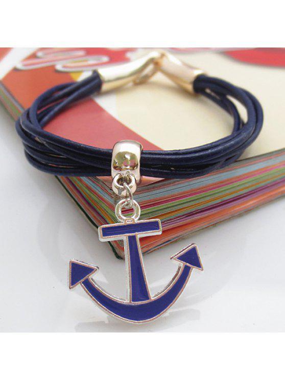 latest Cute Women's Anchor Pendant Bracelet - SAPPHIRE BLUE