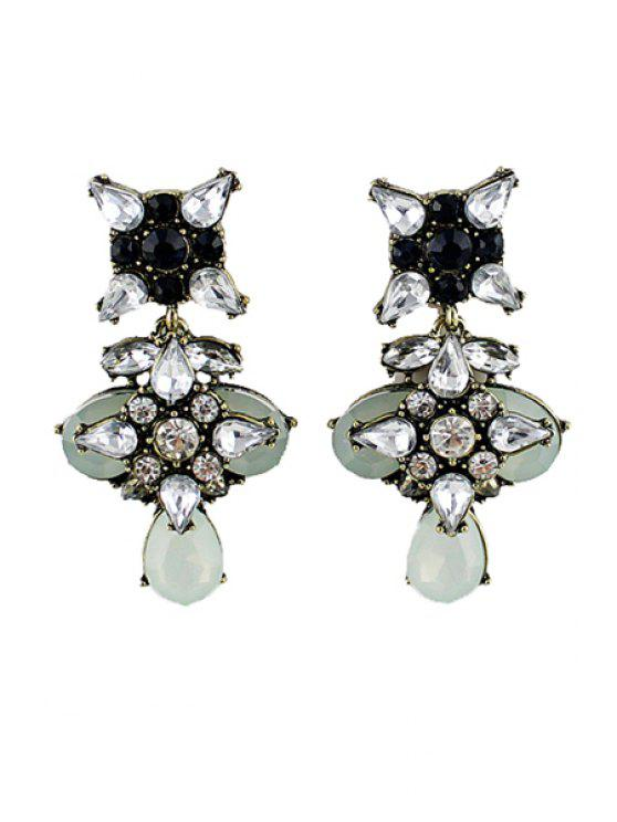 womens Pair of Rhinestone Special Shape Earring - AS THE PICTURE