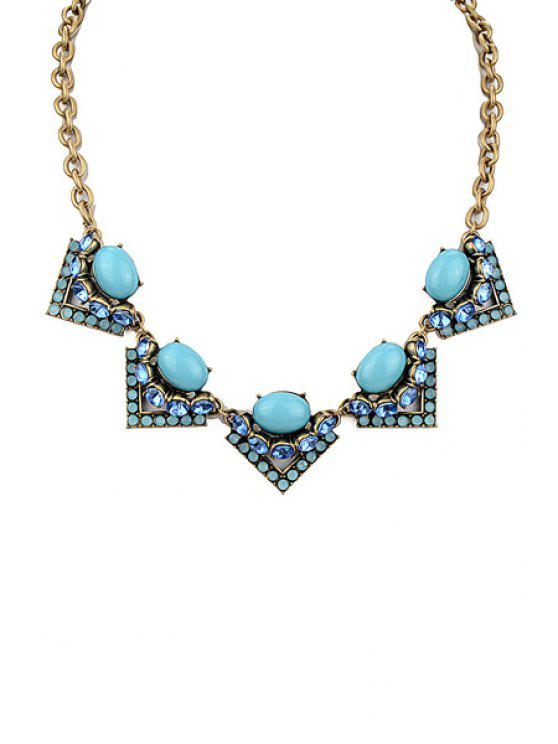 women Rhinestone Triangle Necklace - AS THE PICTURE