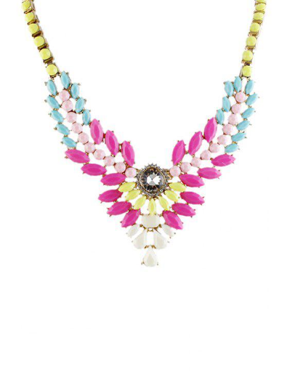 ladies Faux Gem Special Shape Necklace - AS THE PICTURE