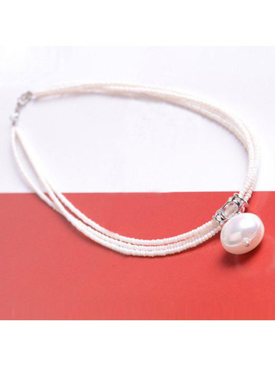 fancy Fashion Chic Women's Faux Pearl Necklace - AS THE PICTURE