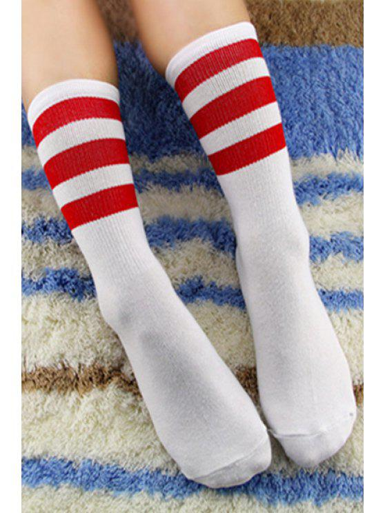 sale Pair of Stripe Socks - COLOR ASSORTED