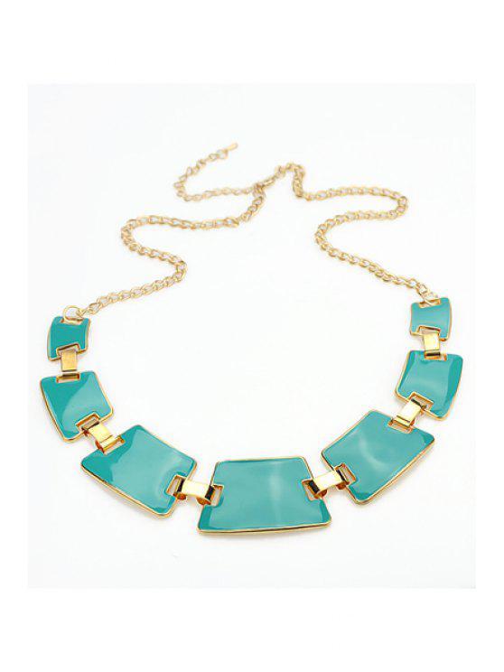 latest Geometric Shape Pendant Necklace - GREEN