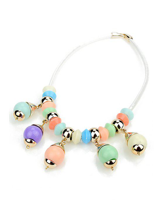 affordable Beads Pendant Necklace - COLORFUL