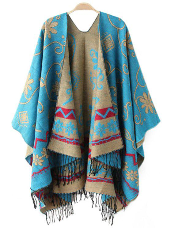 chic Floral Print Tassels Pashmina - AS THE PICTURE