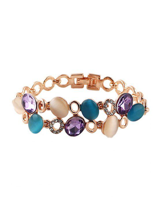 hot Faux Gem Openwork Bracelet - COLORMIX