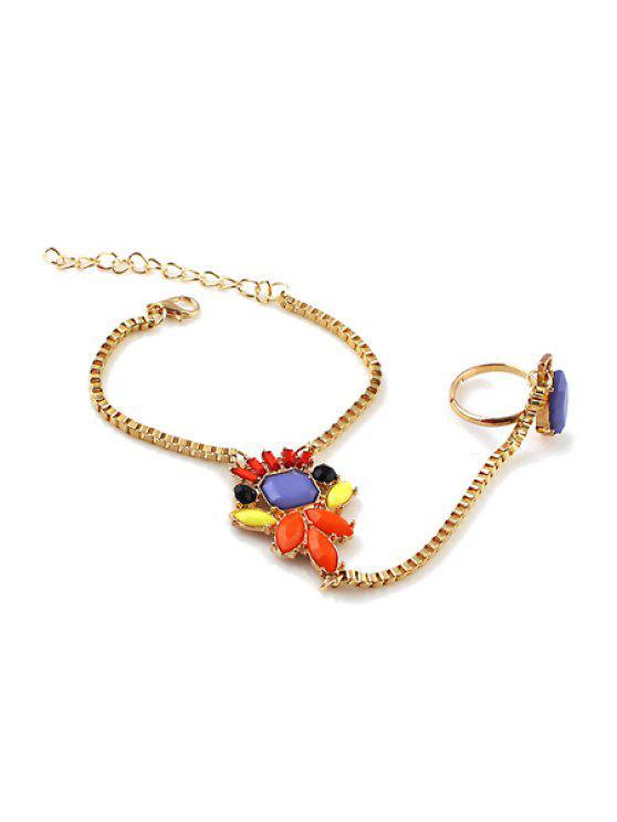 new Faux Gemstone Decorated Bracelet - COLORMIX