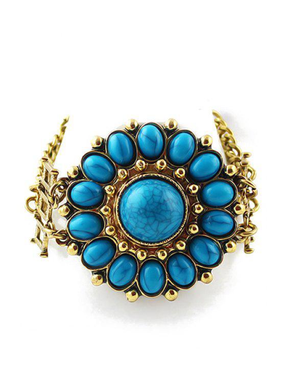 shop Artificial Stone Flower Bracelet - BLUE