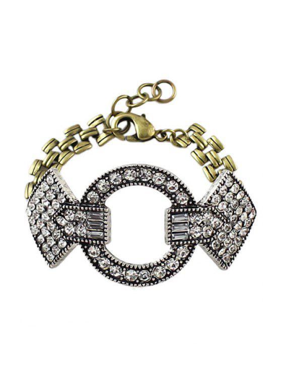 trendy Rhinestone Special Shape Bracelet - COLORMIX