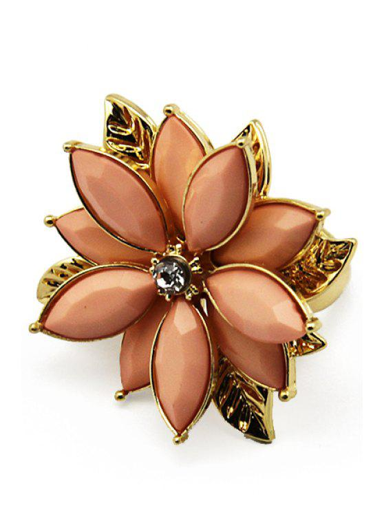 chic Artificial Stone Flower Ring - PINK ONE SIZE