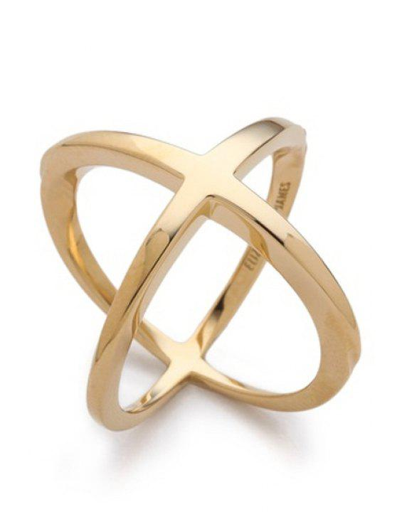 sale Cross Gold Plated Ring - GOLDEN ONE-SIZE