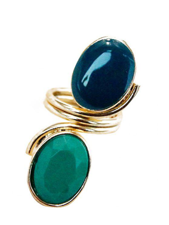 affordable Faux Gem Decorated Ring - COLORMIX ONE-SIZE