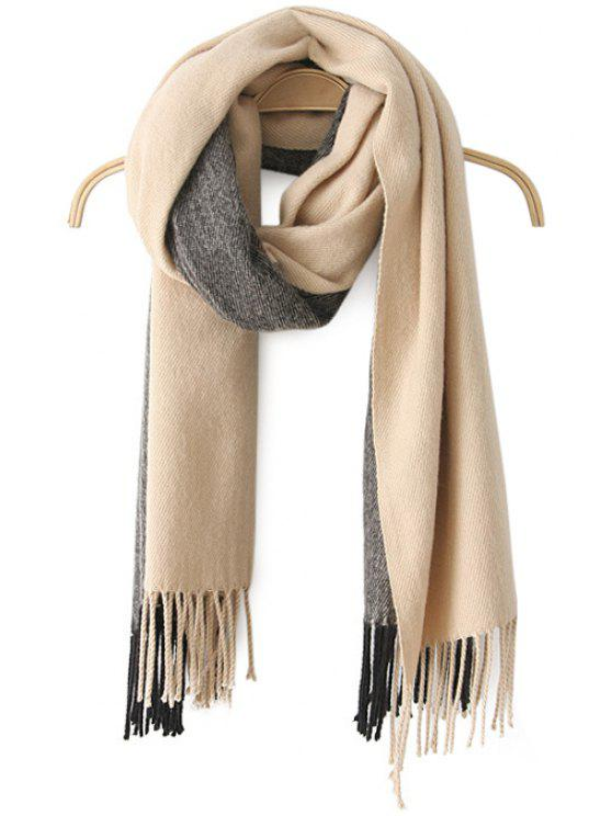 chic Color Block Tassels Scarf - COLOR ASSORTED