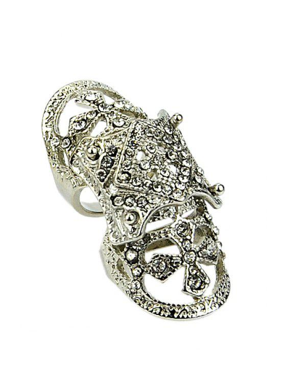 outfits Rhinestone Decorated Special Ring - SILVER ONE-SIZE