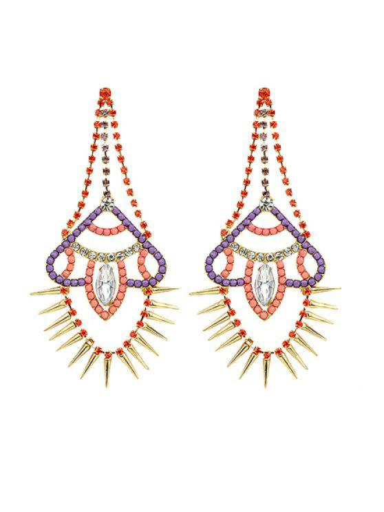 women Pair of Rivet Earrings - COLORMIX