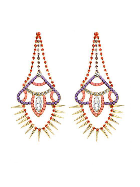 women Pair of Rivet Earrings - COLORMIX