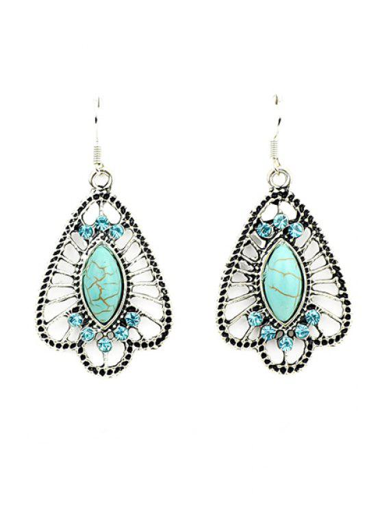 women's Pair of Rhinestone Special Earrings - GREEN