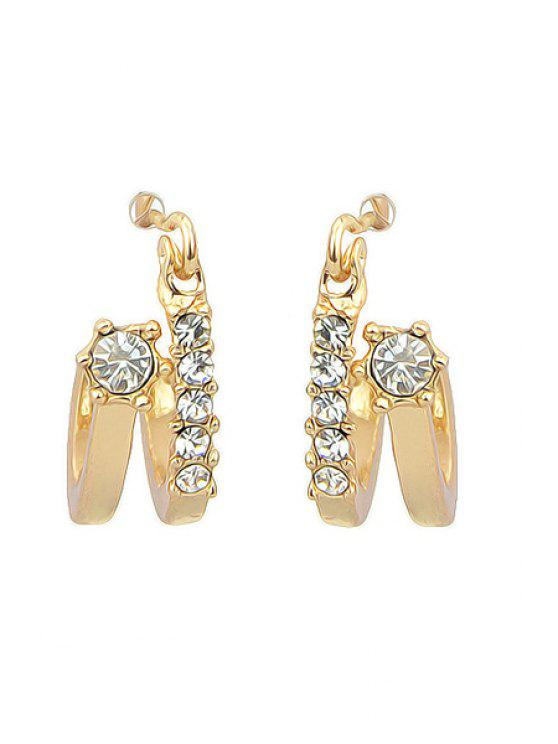shops Pair of Rhinestone Special Shape Earrings - AS THE PICTURE