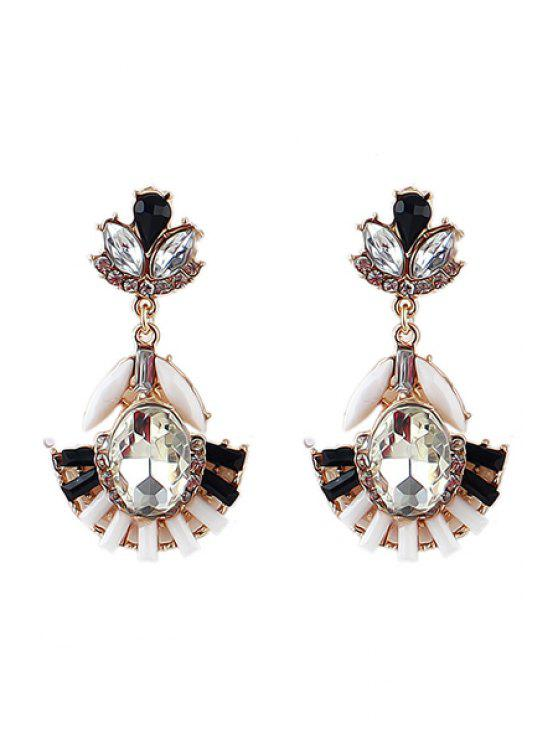 best Pair of Gemstone Special Pendant Earrings - WHITE