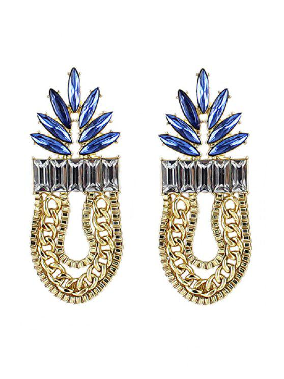 fashion Pair of Tassel Pendant Earrings - COLORMIX