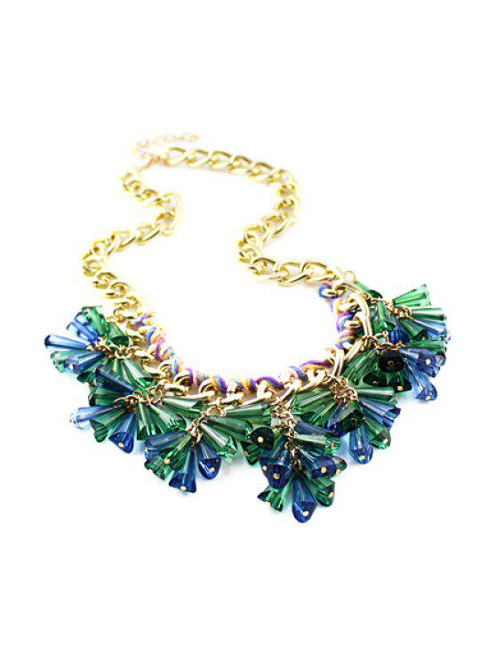 best Resin Decorated Pendant Necklace - GREEN