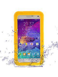 Estuche Protector De TPE Y PC Portátil Impermeable Elegante Incluido Para Samsung Galaxy Note 4 N9100 - Amarillo