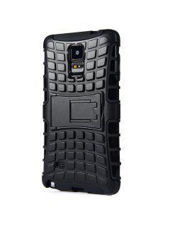 Práctico Estuche Con Función De Soporte Antiskid Estuche Protector De Estuche Para Samsung Galaxy Note 4 N9100 - Negro
