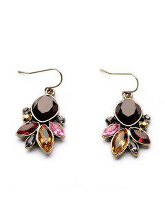 Faux Gem Embellished Drop Earrings