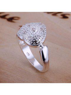 Hot Sale Rhinestone Bezel Setting Heart Shape Ring - Us Size 8
