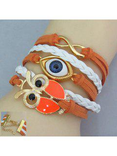 Chic Women's Owl And Eye Shape Friendship Bracelet