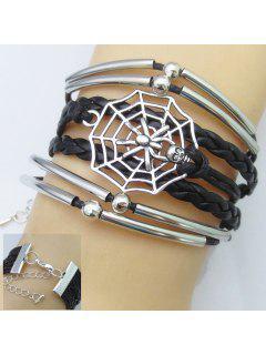 Trendy Women's Spider Web Shape Multi-Layered Friendship Bracelet - Color Assorted
