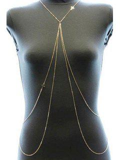 Layered Cross Body Chain - Golden