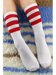 Pair Of Stripe Socks - Color Assorted