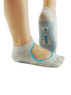 Openwork Skidproof Yoga Socks - Light Khaki