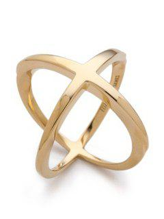 Cross Gold Plated Ring - Golden One-size