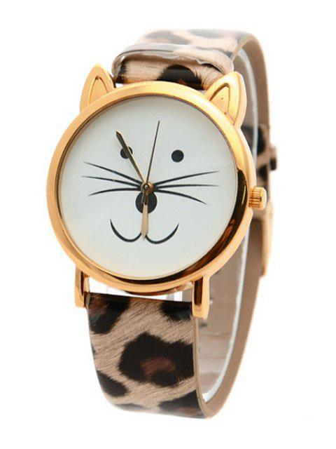 hot Kitten Shape Watch - LEOPARD  Mobile