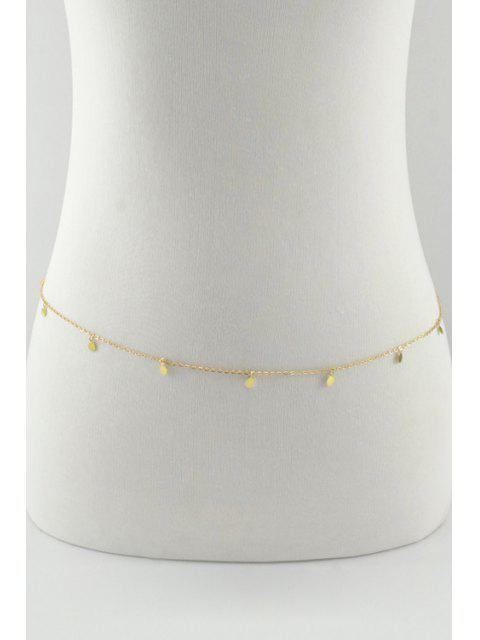 new Sequins Embellished Body Chain - GOLDEN  Mobile