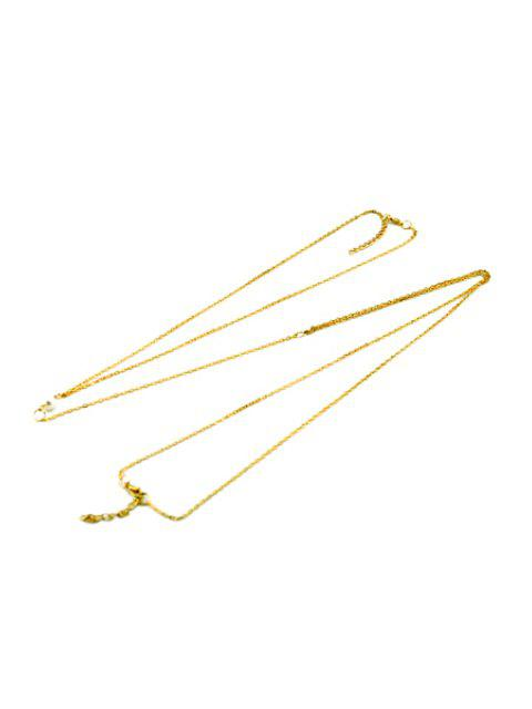 ladies Bead Embellished Body Chain - GOLDEN  Mobile