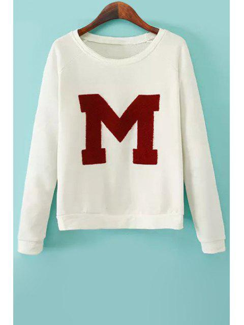 online Flocking Letter Pattern Sweatshirt - OFF-WHITE S Mobile