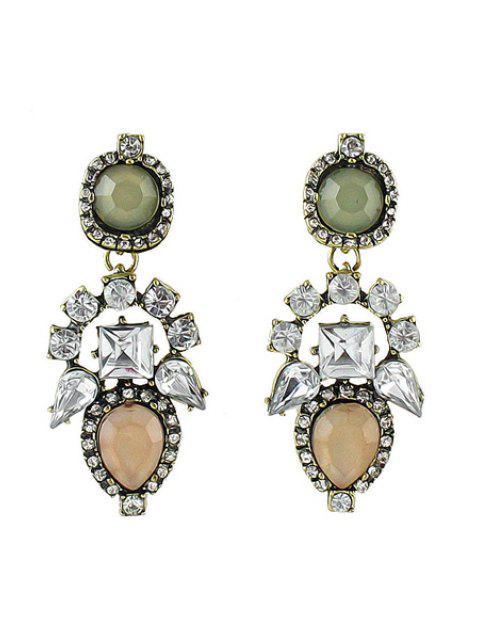 Paire de Boucles d'oreilles en pierre gemme Colorful - ROSE PÂLE  Mobile