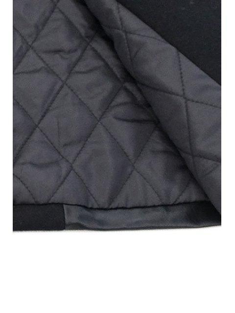 Faux Fur Splicing Waistcoat - Schwarz XL Mobile